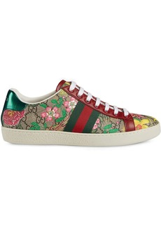 Gucci flora print low-top sneakers