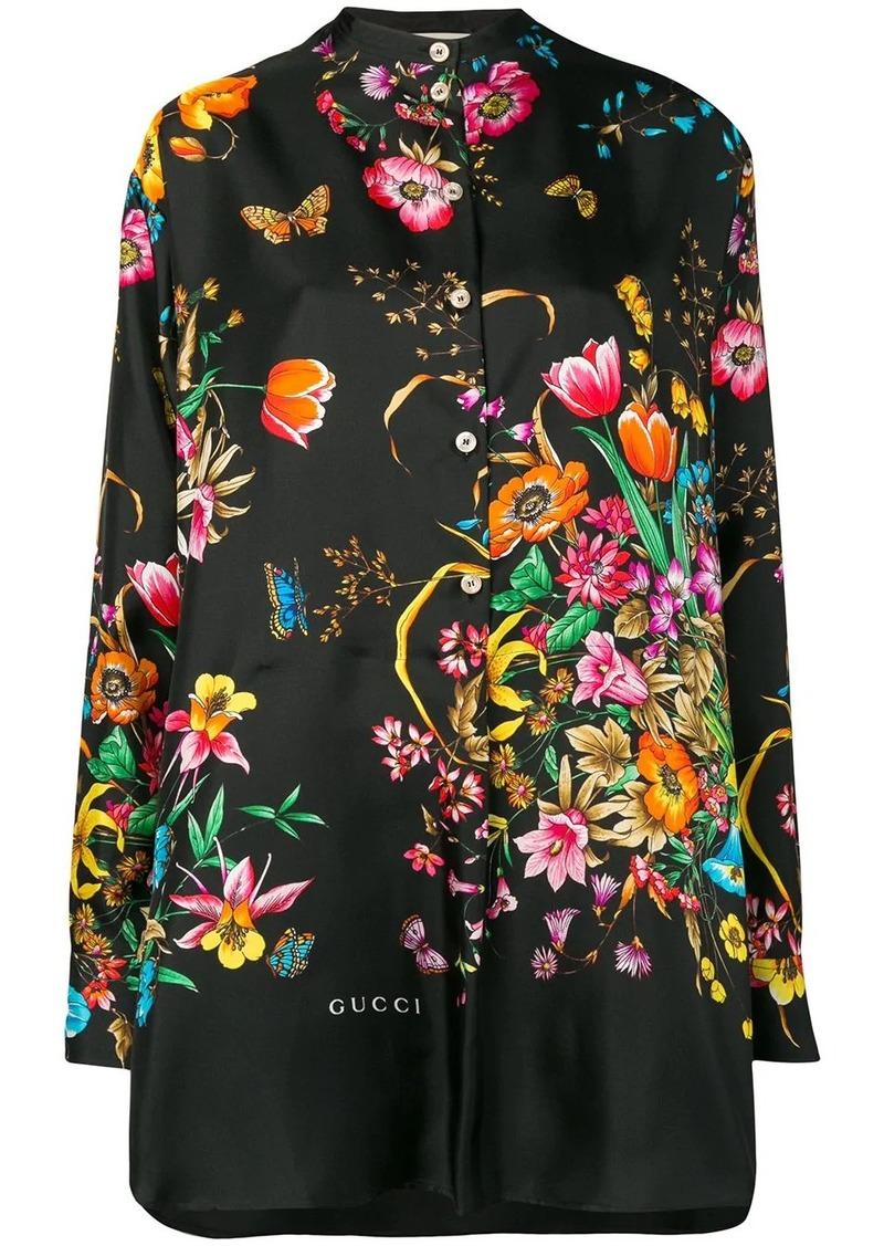 Gucci Flora print oversized shirt