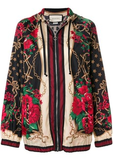 Gucci floral chain oversized jacket