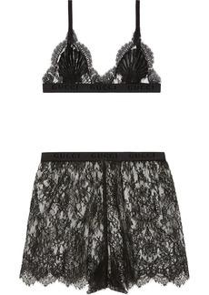 Gucci floral lace lingerie set