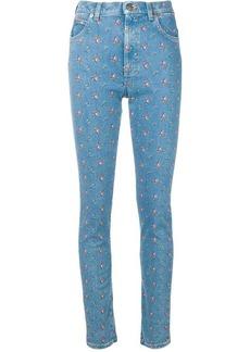 Gucci floral print skinny jeans