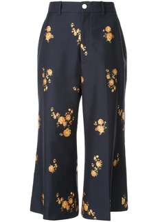 Gucci floral tailored cropped trousers