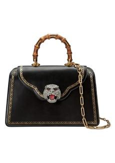 Gucci Frame print leather top handle bag