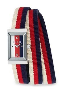 Gucci G-Frame Web Triple-Strap Watch