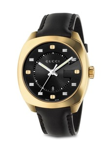 Gucci G Motif Gold-Plated Stainless Steel Watch