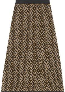 Gucci G rhombus lamé jacquard skirt