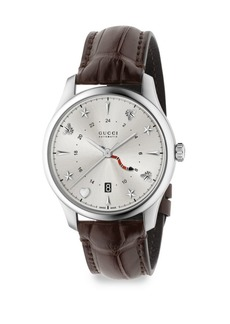 Gucci G-Timeless Analog Leather Strap Watch