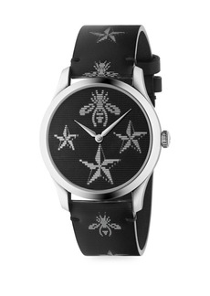 Gucci G-Timeless Round Stainless Steel Resin Strap Watch