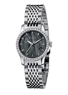 Gucci G-Timeless Small Stainless Steel & Diamond Bracelet Watch