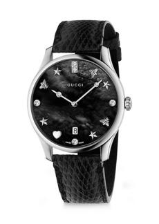 Gucci G-Timeless Snake Link Stainless Steel Bracelet Watch