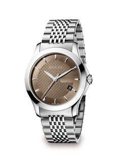 Gucci G-Timeless Stainless Steel Bracelet Watch/Brown
