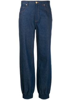 Gucci gathered ankle jeans