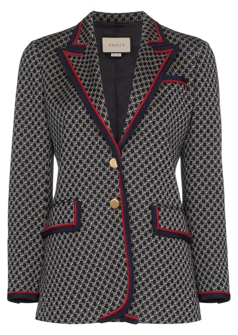 Gucci Geometric G pattern blazer