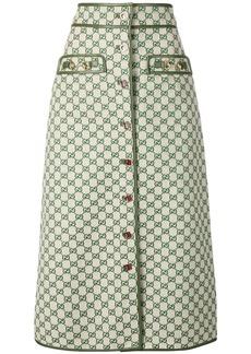 Gucci GG A-line skirt