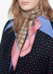 Gucci GG bees silk scarf