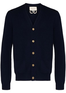 Gucci GG-embroidered cashmere cardigan