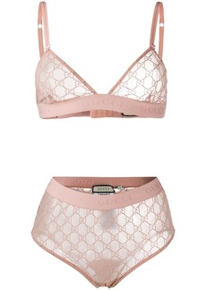 Gucci GG embroidered lingerie set