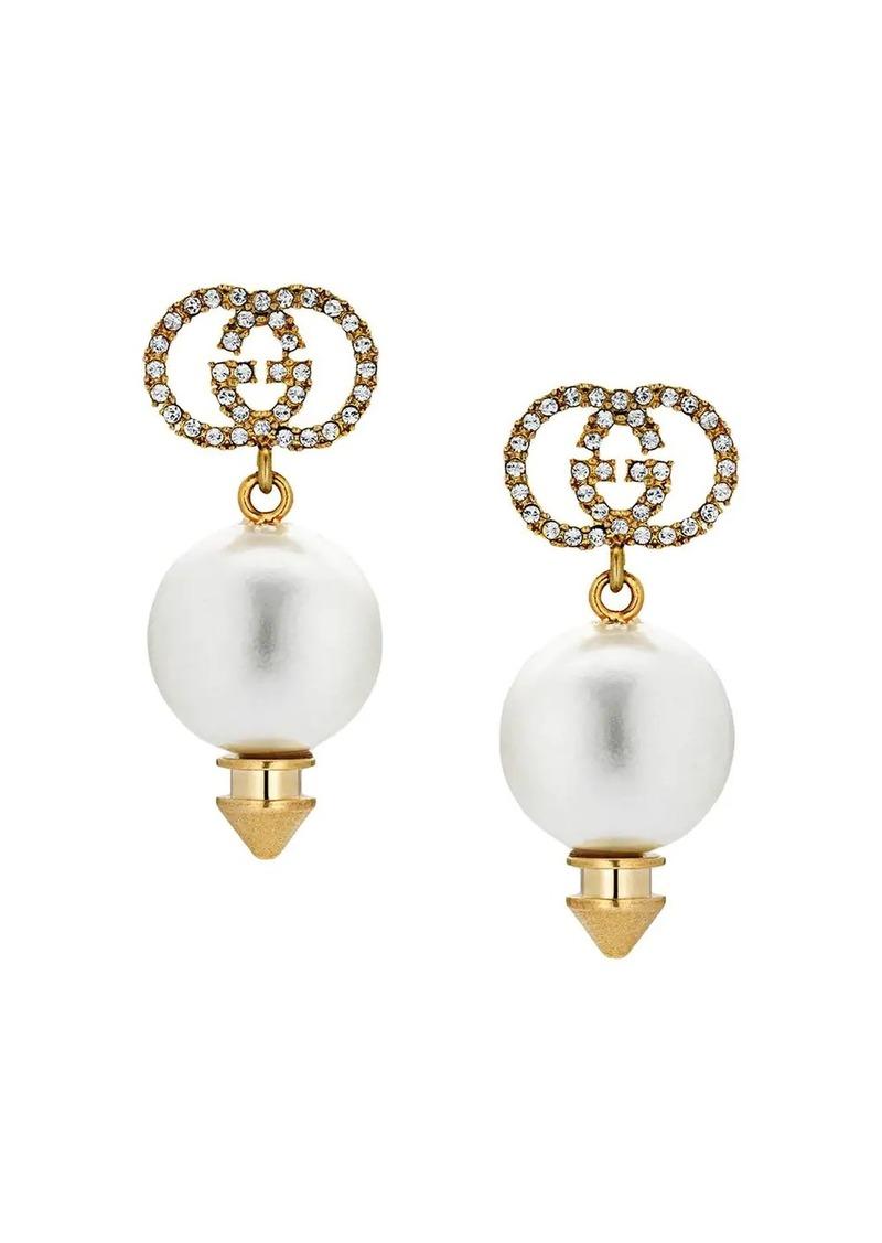 GG faux pearl earrings