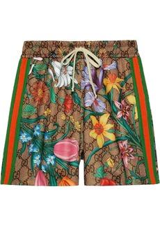 Gucci GG Flora print shorts