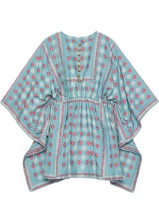 Gucci GG flower fil coupé short kaftan dress