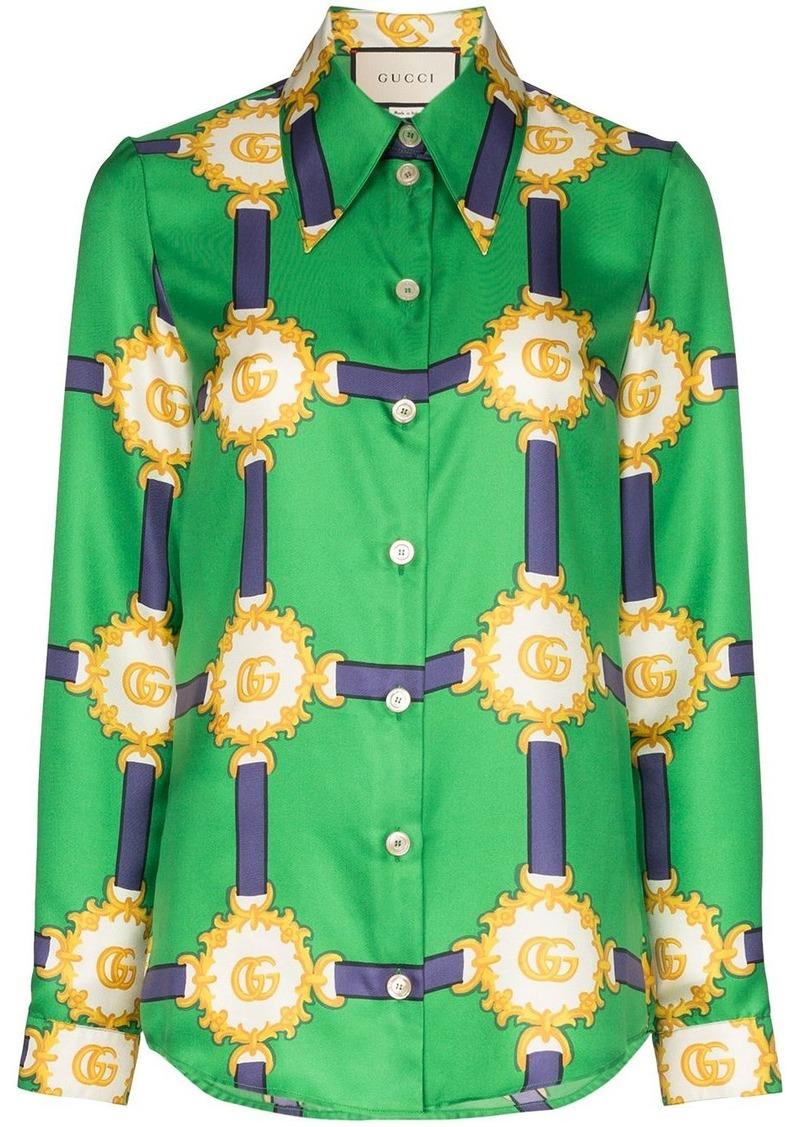 Gucci GG harness print shirt
