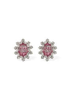 Gucci Gg Interlocking Crystal Clip-on Earrings