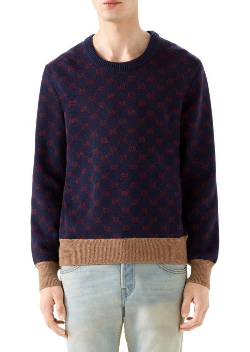 8278e5b61 Gucci GG Jacquard Wool Sweater | Sweaters