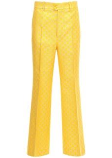 Gucci Gg Lamé Light Wool Blend Flared Pants