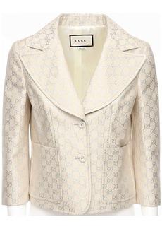 Gucci Gg Lamé Light Wool Blend Jacket