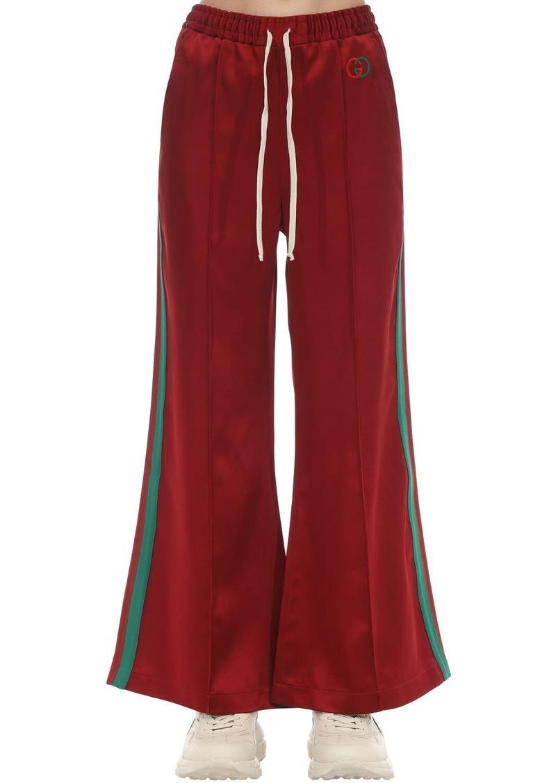 Gucci Gg Logo Acetate Duchesse Track Pants