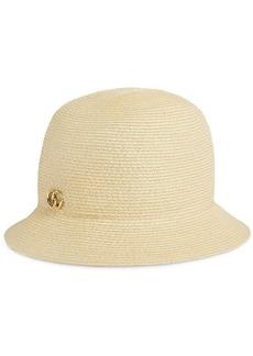 Gucci GG logo raffia hat
