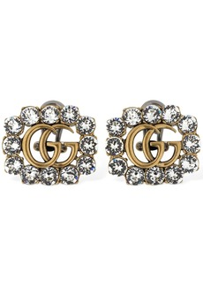 Gucci Gg Marmont Crystal Clip-on Earrings