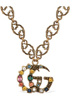 Gucci Gg Marmont Crystal Necklace