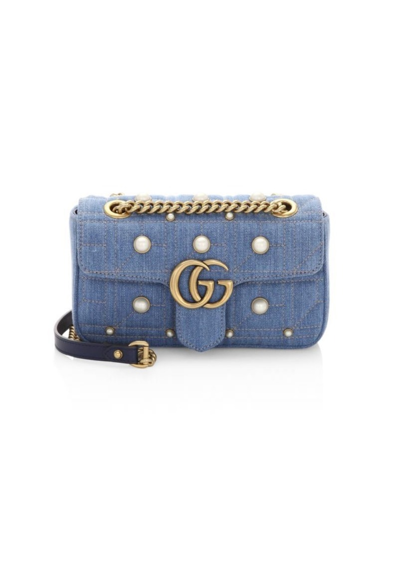 6c779f786d3359 Gucci GG Marmont Denim Mini Shoulder Bag | Handbags