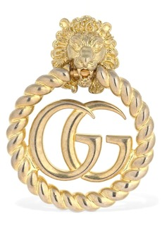 Gucci Gg Marmont Lion Head Mono Earring