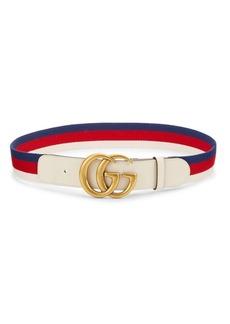 Gucci GG Marmont Web Stripe Belt
