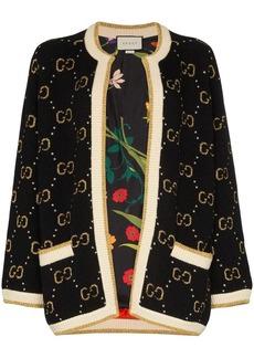 Gucci GG pattern knit cardigan