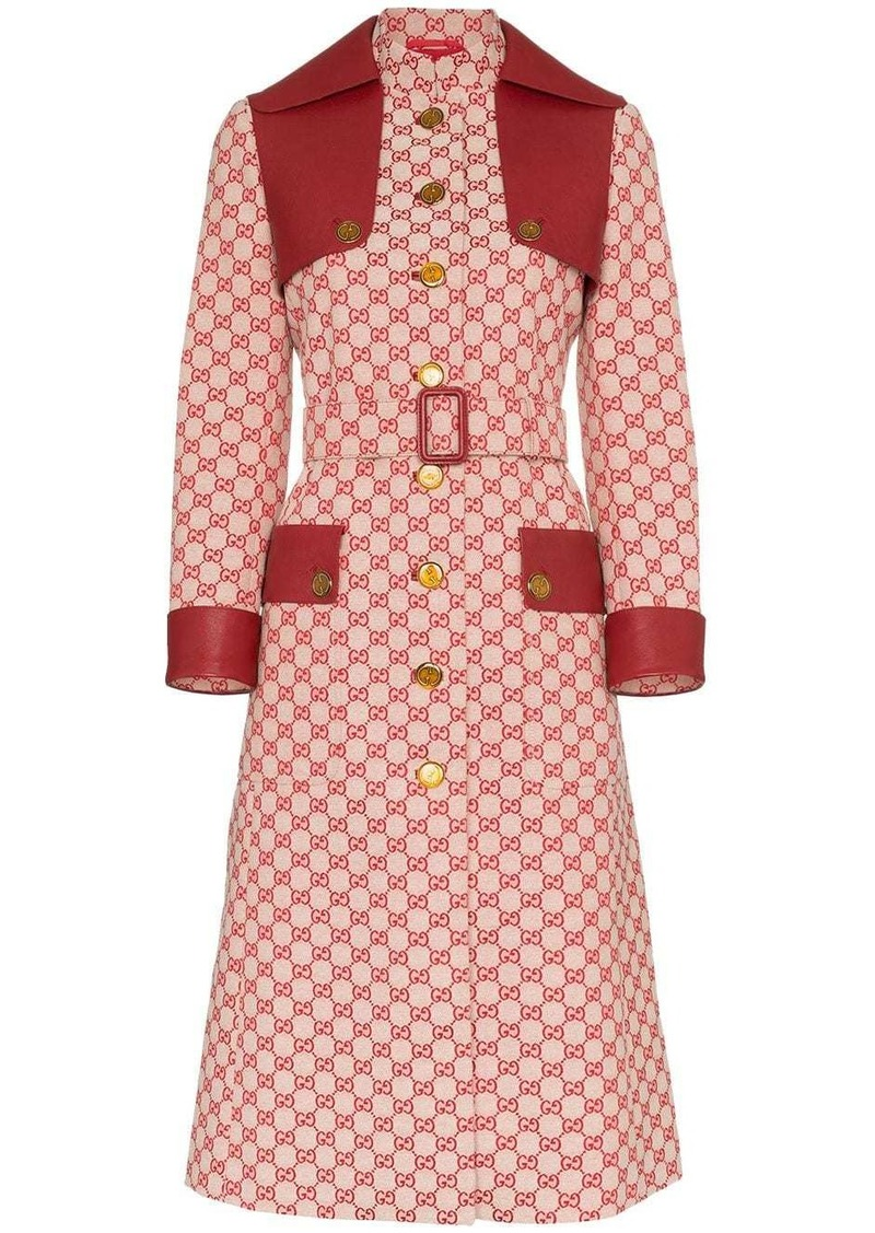 Gucci GG print canvas trench coat