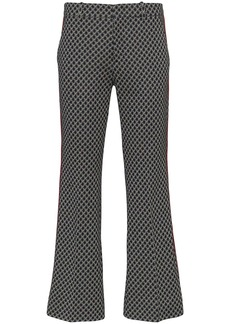 Gucci GG-print cropped flared trousers