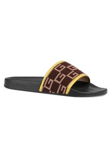 Gucci Pursuit GG Print Slides