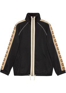 Gucci GG print trim zipped jacket