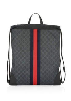 Gucci GG Signature Web Drawstring Backpack