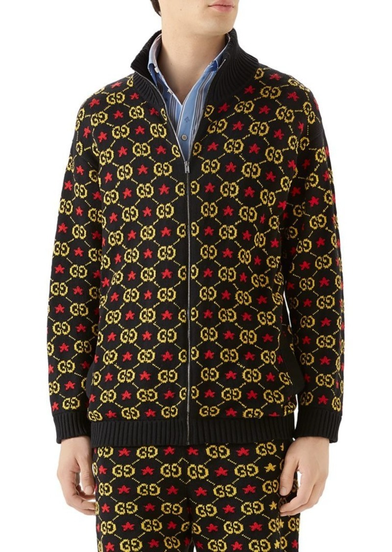 Gucci GG Star Cotton Jacquard Bomber Jacket