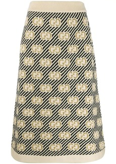 Gucci GG stripe wool jacquard skirt