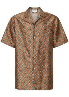 Gucci Gg Sunflower Print Silk Bowling Shirt