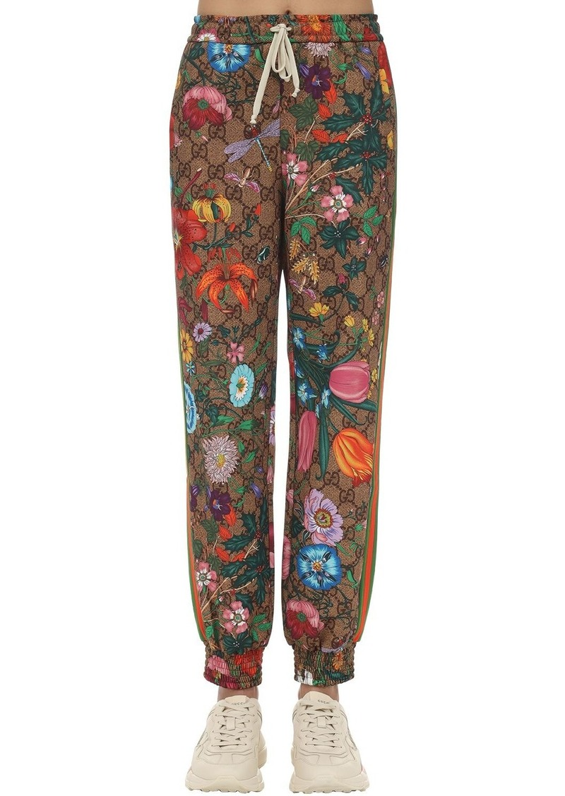 Gucci Gg Supreme & Flora Print Trackpants