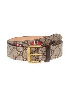 Gucci GG Supreme Belt with Kingsnake Print