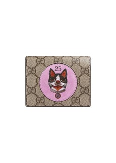 Gucci GG Supreme card case with Bosco patch