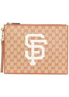 Gucci GG Supreme clutch bag