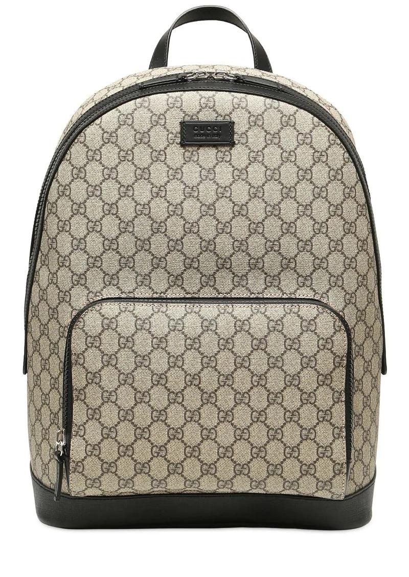 Gucci Gg Supreme Logo Print Backpack